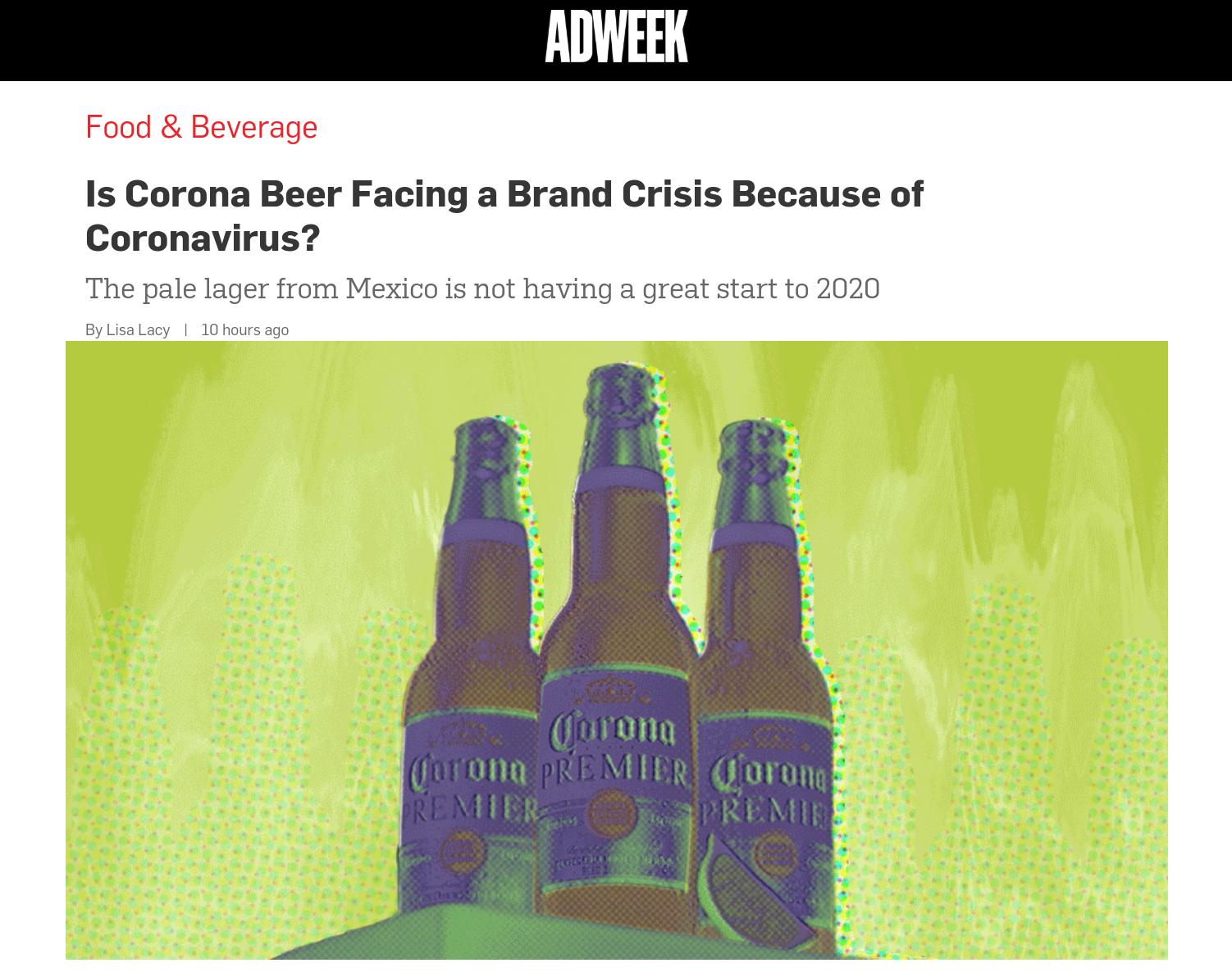 Coronavirus beer